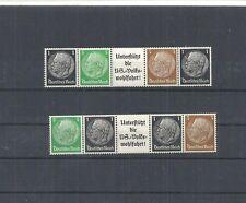Deutsches Reich,1939 Michelnrn: EG-Str. 1 + 2 **, postfrisch, Katalogwert € 8,50