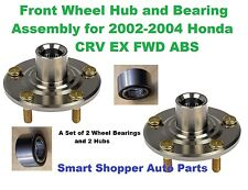 Front Wheel Bearing and Hub for 2002-2004 Honda CRV EX 4WD W/ABS-(Lt and Rt )