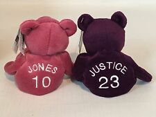 1998 Chipper Jones & David Justice Salvino's Bamm Beano's Plush Beanie Babies
