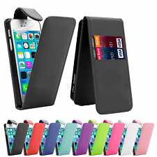 FLIP LEATHER PHONE CASE WITH CARD SLOT FOR Apple iPhone 5/5S/SE UK free post