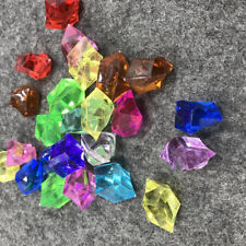 10Pcs Colorful Acrylic Crystal Rock Stones Aquarium Vase Table Decoration