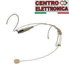 PROEL HCM23 Headset Mini XLR 4p MICROFONO A CONDENSATORE AD ARCHETTO BEIGE CARNE