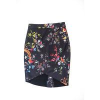 Ted Baker Tuella Opulent Fauna Floral Flower Print High Low Hem Pencil Skirt 8