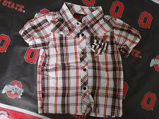 SOUTHPOLE Toddler Boys Button Up Red/Black/White Plaid Shirt Size 2T