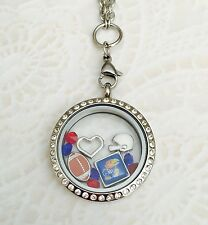 Dijes Memoria Viva Medallón Collar Colgante Amuleto Flotante Origami de búho
