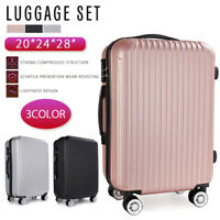 US! Luggage Lightweight Travel Suitcase Trolley Spinner Wheel w/TSA Lock