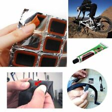 48Pcs Glue Tube Rubber Puncture Patch Kit Tire Tyre Piece Bike Repair Tool
