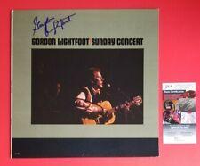 "GORDON LIGHTFOOT SIGNED ""SUNDAY CONCERT"" LP ALBUM CERTIFIED WITH JSA COA psa"