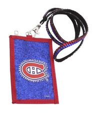 Montreal Canadiens Beaded Lanyard ID Wallet Rhinestone Bling