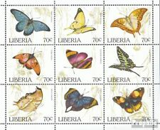 Liberia 1660-1668 Sheetlet unmounted mint / never hinged 1996 Butterflies