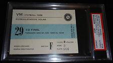 1958 WORLD CUP TICKET BRAZIL BRASIL VS FRANCE MATCH PELE HAT TRICK 3 GOALS PSA