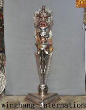 Tibet Meteorite iron Tiantie Mahakala Skull Vajra Phurpa Dagger equipment statue