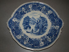 "Villeroy & Boch - Burgenland Blue - Handled Cake Plate Platter - 12"""