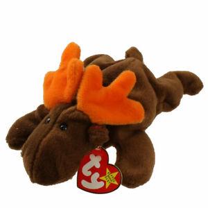 TY Beanie Baby - CHOCOLATE the Moose (9 inch) - MWMTs Stuffed Animal Toy