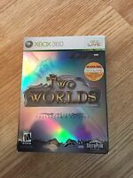 """Two Worlds Xbox 360 Cib Game Collector""""s Case Mint Disk Works W1"""