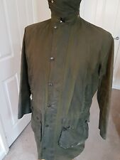 Barbour Border A200 WAXED Jacket C38 /97CM Green In Excellent Condition