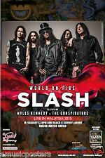 "SLASH ""WORLD ON FIRE LIVE IN MALAYSIA 2015"" KUALA LUMPUR CONCERT TOUR POSTER"