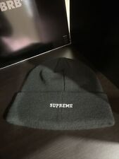 100% AUTHENTIC Black Supreme X Champion Embroidered Logo Beanie FREE Shipping