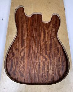 "BUBINGA Electric Guitar Body Blank 3 Joined Pieces 20-3/4"" x 14 x 1-3/4-2"""