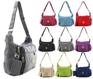 Ladies Crossbody Bag Womens Two Main Compartments Waterproof Shoulder Bags