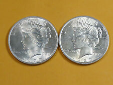 Two 1923 P Peace Dollars 90% Silver