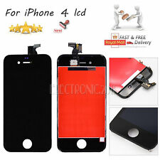 For iPhone 4 4G Black LCD Display Touch Screen Glass Digitizer Lens Replacement
