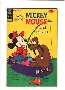 Walt Disney Mickey Mouse and Pluto #158 VG 4.0 Gold Key Comics 1975