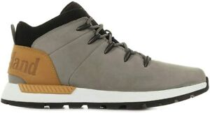 Mens Timberland Grey Leather Euro Sprint Trainers Shoes Size UK 8.5 M  EU 43