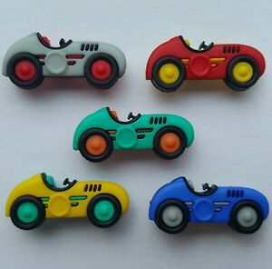 SPEED RACERS Craft Buttons Retro Cars Driving F1 Racing Track Driver Dress It Up