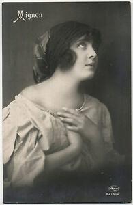 Original Vintage 1920s expressive beauty, marked Mignon