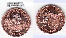 Jeux olympiques Calgary 1988 cu-Médaille majówki 18 mm Winz. randfehler (tt19)