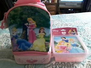 Disney princess  lunch bag plus 2 containers