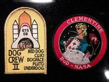 NASA Official Space Shuttle DOD Clementine & Dog Crew II STS 69 Emblem Patch