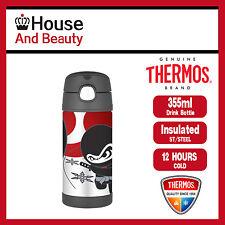 NEW Thermos Funtainer S/Steel Vacuum Insulated Drink Bottle 355ml Ninja F4012NJ6
