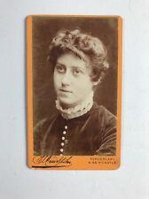 Rare Victorian Carte De Visite CDV Photo: Irish Feminist Writer Sarah Grand