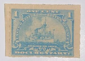 Travelstamps:1898 US Stamps Revenue Sc R163 Battleship Documentary Stamp 1c MNG