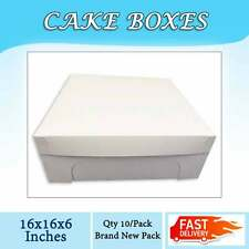 CAKE BOXES 16x16x6 Inches Qty 10/Pack Brand New - Wedding Cake Box - Cupcake Box