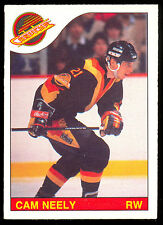 1985 86 OPC O PEE CHEE HOCKEY #228 CAM NEELY NM BOSTON BRUINS VANCOUVER CANUCKS