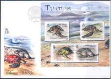 SOLOMON ISLANDS 2012 TURTLES  SHEET FDC