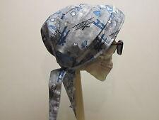 Airplane Aircraft Aviation Flying Skull Cap Do Rag w/Sweatband  Made in USA!