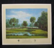 Arnold Palmer 1960 US Open Cherry Hills Masters Donald Moss Golf Lithograph