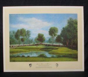 Arnold Palmer 1960 US Open Cherry Hills Masters Donald Moss Golf Lithograph