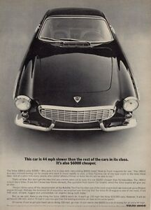 1965 Volvo PRINT AD 1800S Front View Great Garage Cave Decor