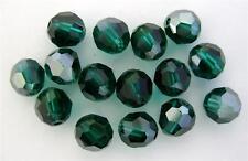 3 6 mm Swarovski 5000 Crystal Rounds -- Emerald Satin