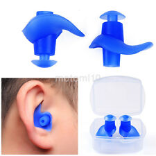 Silicone Waterproof Soft Swimming Ear Plug Set Protector Sport Earplug 1Pair New