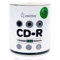 Smartbuy CD-R 52X 700MB/80Min Logo Top (Non-Printable) Blank Media Record Disc
