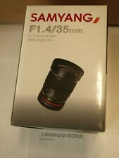 Samyang 35mm F1.4 Aspherical NEW Lens AS MULTI COATED for SONY A MOUNT CAMERAS