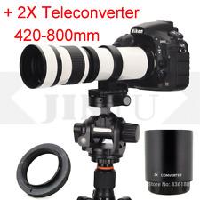 JINTU 420-800mm Telephoto Lens W/2x teleconverter 420-1600mm F Nikon DSLR Camera