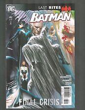 "Batman #683 ~ Last Rites / ""What the Butler Saw"" ~ 2009 (9.2) WH"