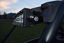 "RZR CAGE MOUNT LIGHT BAR BRACKETS XP 1000 900 S 30-34"" CNC CUT POWDER COATED BLA"